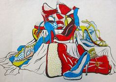 Lichtenstein inspired still life drawings via Artsonia