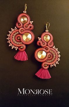 "Soutache earrings ""G"