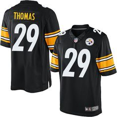 ... Ryan mundy Shamarko Thomas Mens Limited Black Jersey Nike NFL Pittsburgh  Steelers Home 29 ... eae3c6b83