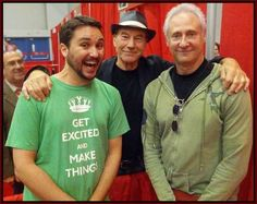 Amazing how much Wil Wheaton and Brent Spiner have aged . . . and how Patrick Stewart hardly looks a day older!