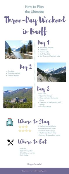 How to Plan the Ultimate Three-Day Weekend in Banff - #Banff #explore #Plan #Threeday #Ultimate #weekend Camping Places, Places To Travel, Places To See, Vancouver British Columbia, Vacation Destinations, Vacation Spots, Vacations, Calgary, Alberta Travel