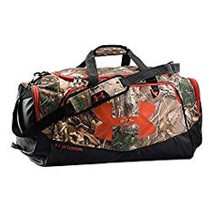 870eac3f11 Under Armour Storm Camo Undeniable LG Duffle, Realtree Ap-Xtra/Dynamite,  One Size: This item is made out of polyester. This item is made in Vietnam.