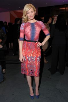 Effie Trinket rocking a gorgeous Peter Pilotto spring '12 cut-out dress