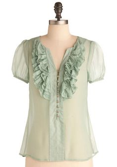 Oh mint green. Could I make this, but less sheer?