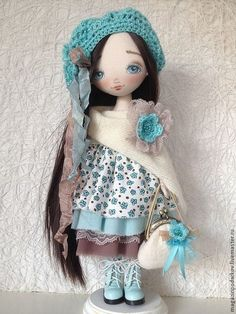 Collectible dolls handmade.  Doll Charlotte.  Monica Store.  Online Store Fair Masters.  Brown, interior, gift girlfriend