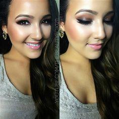 Her makeup is always pretty