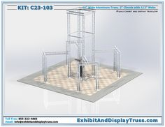 Trade show display kit and exhibit booth kits made by Exhibit and Display Truss.com are the best reviewed in the Nation. Cost effective, exciting designs with customer service that is second to none.