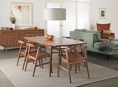 Mid Century Dining Room Sets For Big Family 44 Dining Room Sets, Dining Room Chairs, Dining Room Furniture, Dining Tables, Modern Furniture, Wood Tables, Furniture Redo, Furniture Online, Console Table