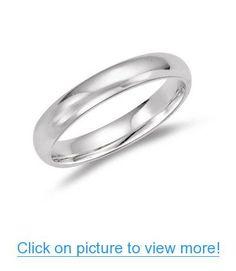 Mens Classic Wedding Band in Platinum #Mens #Classic #Wedding #Band #Platinum