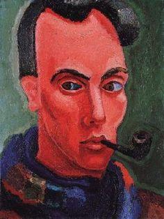 Mario Eloy  -  Self-portrait, c. 1936-39 - (Born: 15 March 1900; Algés, Portugal - Died: 05 September 1951; Lisbon, Portugal )  Portuguese painter  -Movement: Expressionism