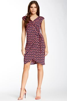 Maggy London | Side Tie Printed Dress