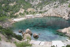 The amazing cala of Es Portixol, one of the most beautiful spots of the island.
