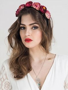 Shop Multicolor Camellia Floral Headband from choies.com .Free shipping Worldwide.$6.9