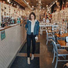 "363 Likes, 12 Comments - Katelyn Kosinski (@katelyn_now) on Instagram: ""Denim, coffee, and books Still my happy place."""
