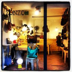 Zonzo Atelier in Via Paternostro 99 in Palermo, Sicily   Handmade leather goods by local Sicilian designers