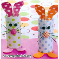 How cute are these!!!!Toilet Paper Rolls Bunnies
