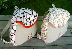 DIY Kids backpack.  Find the 30 backpacks to sew and use those ideas and the pattern link here to create a CUTE backpack!