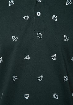 Short Sleeves M with Diamond Pattern Polo Tee from Folded & Hung in green_5