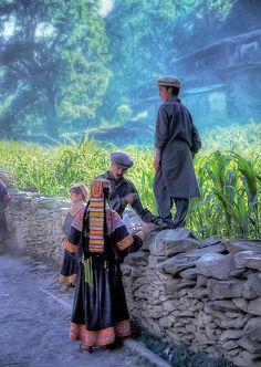 Kalash kids, Pakistan