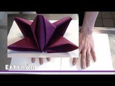 Pliage de Serviette en papier: Fleur de Lys - Comment faire des décoration - YouTube