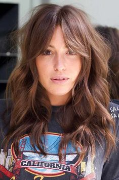 24 Sexy Long Layered Hairstyles 2019 There are countless hairstyles that can be created on the basis of layered haircuts. Let's discover some fresh as well as classy hairstyles for long, layered hair. Shaggy Haircuts, Long Layered Haircuts, Hairstyles Haircuts, Layered Hairstyles, Long Layered Bangs, Long Fringe Hairstyles, Long Shag Haircut, Shaggy Long Hair, Hair Styles Long Layers