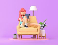 Girl with Ipad designed by VAGO. Connect with them on Dribbble; the global community for designers and creative professionals. 3d Model Character, Character Modeling, Character Design, Character Concept, 3d Design, Game Design, Adveture Time, Modelos 3d, 3d Artwork