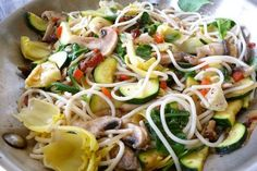 Joann said--Tried this dish for lunch today. VERY YUMMY! I used the quinoa pasta (gluten-free) and it was excellent. I added zucchini, squash, artichokes, sun-dried tomatoes, & bell peppers along with the onion & garlic. Will be making this again... soon.