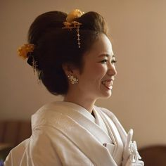Wedding Kimono, Hair Arrange, Yukata, Japanese Culture, Wedding Hairstyles, Bride, Hair Styles, Dresses, Instagram