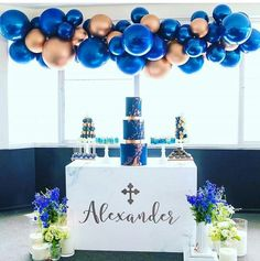 When your stylist wants copper balloons.you give her copper balloons! Design and concept Set up and styled Photography Props Decal Flowers Cake Towers and doughnuts Dessert cups Cake stands Cake pops Candles Balloon Garland, Balloon Decorations, Birthday Party Decorations, Birthday Parties, Wedding Parties, Balloon Arch, Table Decorations, Baby Shower Themes, Baby Boy Shower