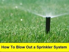 How To Blow Out (Winterize) Your In Ground Lawn Yard Sprinkler System - Step by Step DIY Guide - YouTube