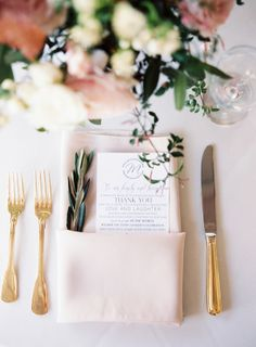 Gorgeous burgundy, blush and gold table setting: http://www.stylemepretty.com/tennessee-weddings/nashville/2015/08/28/charming-burgundy-and-cream-nashville-wedding/ | Photography: Cassidy Carson -http://www.cassidycarsonphotography.com/#cassidy-carson-photography