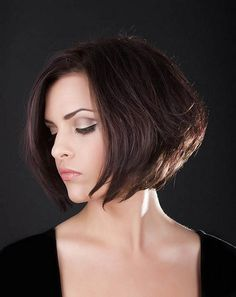 Graduated Bob Hairstyle. I love that this has body and doesn't lay flat against her head!!