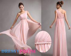 Rosa lange Brautjungfer/Party Kleid OneSchulter von DressyProm, $99.99