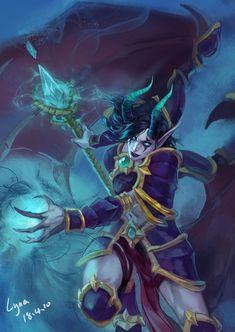 Dreadlord Jaina by lynadeathshaow World of Warcraft Art Board ^^ // Blizzard // wow // // Digital Warcraft Game, Warcraft Movie, Fantasy Warrior, World Of Warcraft, Jaina Proudmoore, Night Elf, Heroes Of The Storm, Video X, Lol League Of Legends