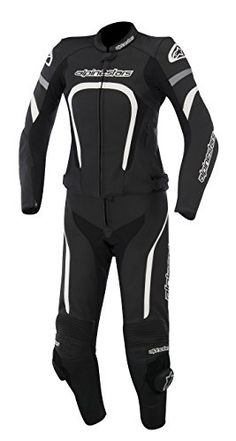 New Alpinestars Stella Motegi 2pc Womens Leather Suit 2-piece, Black/white, Eur-46/us-10/12 http://www.motorcyclegoods.com/15-best-and-coolest-two-piece-race-suits/