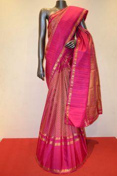 Bridal Sarees | Buy Bridal Pink Exquisite Hand Woven Kanjivaram Silk Saree Online