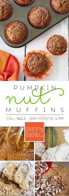 Pumpkin Nut Muffins – low-fat, moist and full of pumpkin goodness!