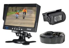 Weatherproof Rearview Backup Camera System Kit w/7¢?T¢?T LCD Color Monitor, IR Night Vision Camera, Dual DC Voltage 12-24 for Bus, Truck, Trailer, Van