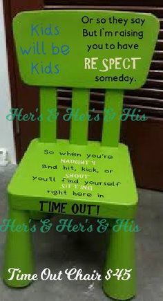 Kids Will Be Kids Time Out Chair