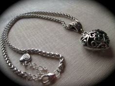 Brighton style silver filigree puffed by HeidiDiCesareDesigns, $17.00
