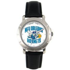 New Orleans Hornets Leather Band Players Watch