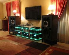 An audiophile music listening room design.