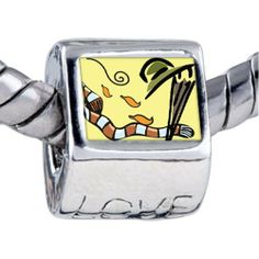 Pugster Fall Fashionwear Photo Love Beads Fits Pandora Charm Bracelet Pugster. $12.49. Unthreaded European story bracelet design. Hole size is approximately 4.8 to 5mm. Bracelet sold separately. It's the photo on the love charm. Fit Pandora, Biagi, and Chamilia Charm Bead Bracelets
