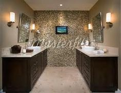 Mosaic Tiles, Wall Tiles, Poinsettia, Napa Style, Feature Tiles, Wine Country, Corner Bathtub, Contemporary, Mirror