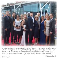 Henry Cavill on his family.