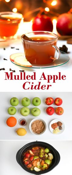 Slow cooker from-scratch mulled apple cider. Spiced and delicious!