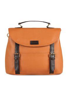 Buy Purseus rust classic buckled satchel  Online, , LimeRoad