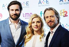 Clive Standen, Katheryn Winnick and Linus Roache @ A+E Networks Upfront in NYC