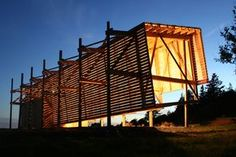 Why is it a good idea for architecture students to design AND build projects? Ghost Lab by MacKay-Lyons Sweetapple Architects has a perfect response to this question. theres no better way to learn something but by Doing it! Timber Architecture, Architecture Images, Commercial Architecture, Architecture Student, Beautiful Architecture, Residential Architecture, Architecture Details, Wood Facade, Shelter Design