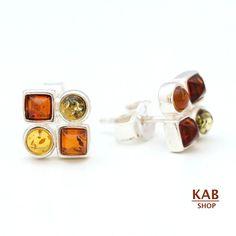 BALTIC AMBER STERLING SILVER 925 JEWELLERY BEAUTY EARRINGS. KAB-K19